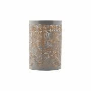 House Doctor - Hessian Lantern Small | Grey / Gold