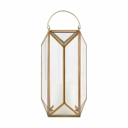 House Doctor - Tall Cubix Laterne Klein   Gold