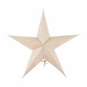 House Doctor - 5 Point Estrela natureza (conjunto de 2) Medió