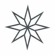 House Doctor - Christmas Estrelae (conjunto de 2) Pequeno | Cinzento