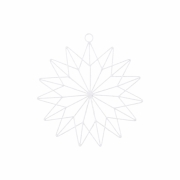 House Doctor - 15 Point Estrela (conjunto de 2) Grande