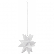 House Doctor - Star Ornament weiß (6 Stk.)