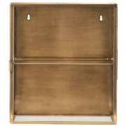 House Doctor - Cabinet wall-mounted 40 x 35 cm | Brass