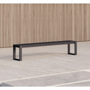 Case Furniture - Eos Communal Outdoorbank Schwarz