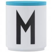 Design Letters - Wooden Cap for AJ Porcelain Cup turquoise