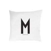 Design Letters - Pillowcase  A - Z (80 x 80 cm) M