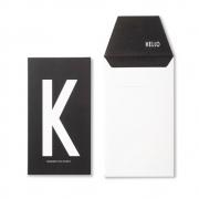 Design Letters - AJ carte postale K