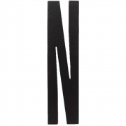 Design Letters - Wooden Letters Dekobuchstabe Indoor N | Schwarz