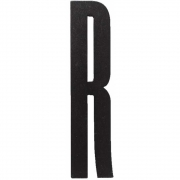 Design Letters - Wooden Letters Indoor R | Black