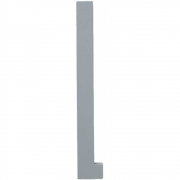 Design Letters - Wooden Letters Dekobuchstabe Indoor L | Grau