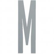 Design Letters - Wooden Letters Dekobuchstabe Indoor M | Grau