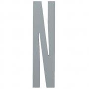 Design Letters - Wooden Letters Dekobuchstabe Indoor N   Grau