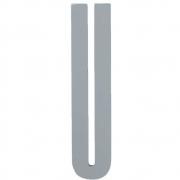 Design Letters - Wooden Letters Dekobuchstabe Indoor U | Grau
