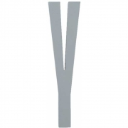 Design Letters - Wooden Letters Indoor Y | Grey