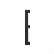 Design Letters - Wooden Letters Indoor E | Black