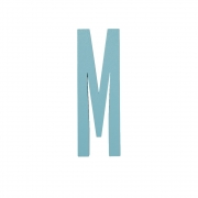 Design Letters - Wooden Letters Indoor M | Turquoise