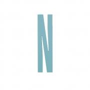 Design Letters - Wooden Letters Dekobuchstabe Indoor N | Türkis