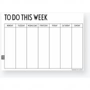 Design Letters - Wochenplaner Englisch