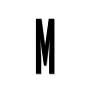 Design Letters - Acrylic Letter M | Black