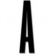 Design Letters - Acryl Buchstabe Wanddekoration A | Schwarz