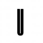 Design Letters - Acryl Buchstabe Wanddekoration U | Schwarz