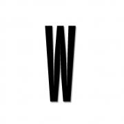 Design Letters - Acryl Buchstabe Wanddekoration W | Schwarz