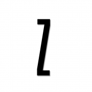 Design Letters - Acryl Buchstabe Wanddekoration Z | Schwarz