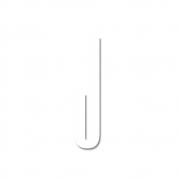 Design Letters - Acryl Buchstabe Wanddekoration J | Weiß