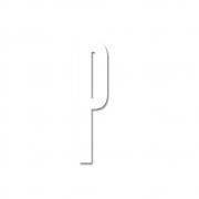 Design Letters - Acryl Buchstabe Wanddekoration P | Weiß