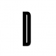 Design Letters - Acryl Buchstabe Wanddekoration D | Schwarz