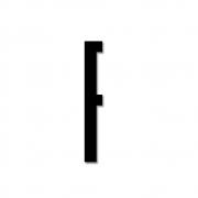 Design Letters - Acryl Buchstabe Wanddekoration F | Schwarz