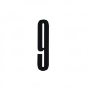 Design Letters - Acryl Zahl Wanddekoration 9   Schwarz