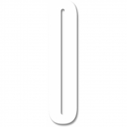 Design Letters - Acryl Zahl Wanddekoration 0   Weiß