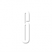 Design Letters - Acryl Zahl Wanddekoration 6   Weiß