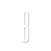 Design Letters - Acryl Zahl Wanddekoration 8   Weiß