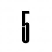 Design Letters - Acryl Zahl Wanddekoration 5   Schwarz