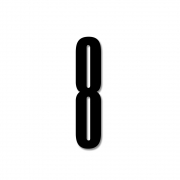 Design Letters - Acryl Zahl Wanddekoration 8   Schwarz