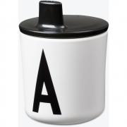 Design Letters - Trinkkappe für AJ Melamin Kinderbecher Schwarz