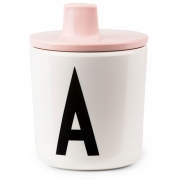 Design Letters - Trinkkappe für AJ Melamin Kinderbecher Rosa