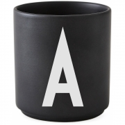 Design Letters - AJ Porzellan Becher schwarz A