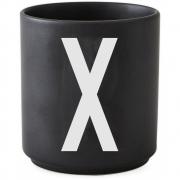 Design Letters - AJ Porzellan Becher schwarz X