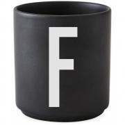 Design Letters - AJ Porzellan Becher schwarz F