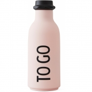 Design Letters - To Go water bottle Pink
