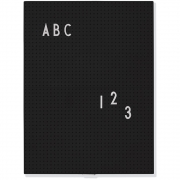 Design Letters - Message Board A4 Black
