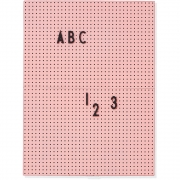 Design Letters - Message Board A4 Pink