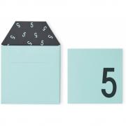 Design Letters - Geburtstagskarte 1-6 Grün | 5