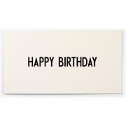Design Letters - AJ Grußkarte HAPPY BIRTHDAY