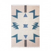 Ferm Living - Kelim Blue Triangles Rug 200 x 140 cm