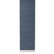 Ferm Living - Lines Wallpaper Dark Blue