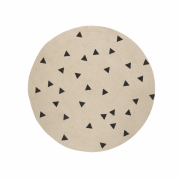 Ferm Living - Jute Teppich 100 cm | Black Triangles